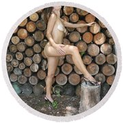 Wood Shed 269 Round Beach Towel