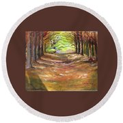 Wooded Sanctuary Round Beach Towel
