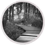 Wooded Walk Round Beach Towel