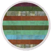 Wooden Abstract X  Round Beach Towel