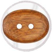 Wooden Button Round Beach Towel