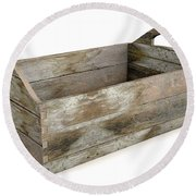 Wooden Carry Crate Round Beach Towel