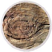 Wooden Eye 1 Round Beach Towel
