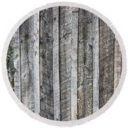 Wooden Fence And Ivy Round Beach Towel