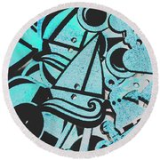 Wooden Harbour Round Beach Towel