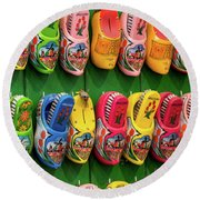 Wooden Shoes From Amsterdam Round Beach Towel