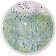Woodford Park In Woodley Round Beach Towel