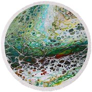 Woodland Abstract Round Beach Towel