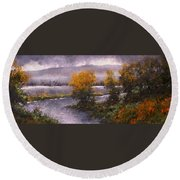 Woodland Bottoms Round Beach Towel