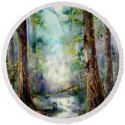 Woodland Creek 1.0 Round Beach Towel