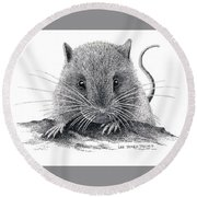 Woodland Jumping Mouse Round Beach Towel