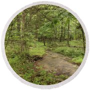 Woodland Strem Round Beach Towel