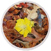 Woodland Surprise Round Beach Towel