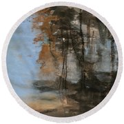 Woodlands At The Lake Round Beach Towel