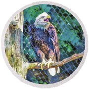 Woodlands Nature Station Round Beach Towel