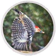 Woodpecker Wings Round Beach Towel
