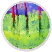Woods Canyon 6 Round Beach Towel