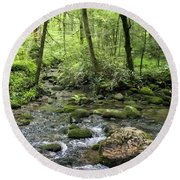 Woods - Creek Round Beach Towel