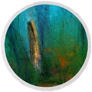 Woods Scene 052010 Round Beach Towel