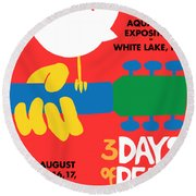 Woodstock Round Beach Towel