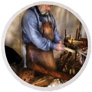 Woodworker - The Carpenter Round Beach Towel