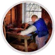 Woodworker - The Master Carpenter Round Beach Towel