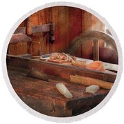 Woodworker - The Table Saw Round Beach Towel