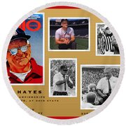Woody Hayes Legen Five Panel Round Beach Towel