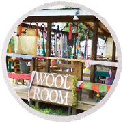 Wool Room 1 Round Beach Towel