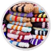 Wool Socks Round Beach Towel