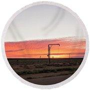Woomera Sunset Round Beach Towel
