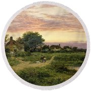 Worcestershire Cottages Round Beach Towel