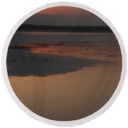Worden's Pond Sunrise 1 Round Beach Towel