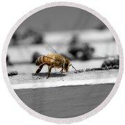 Worker Bee Round Beach Towel
