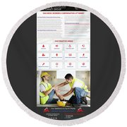 workerscompensationlawyer Infograpics Round Beach Towel