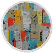 Working Together Round Beach Towel