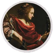 Workshop Of Simon Vouet Round Beach Towel