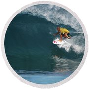 World Champion In Action Round Beach Towel