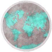 World Map 39 Round Beach Towel