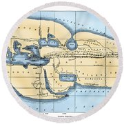 World Map: Eratosthenes Round Beach Towel