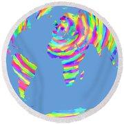 World Map Radial Eurocentric Round Beach Towel