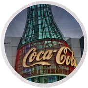 World Of Coca Cola Round Beach Towel
