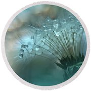 World Of The Drops... Round Beach Towel