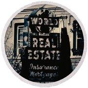 World Real Estate Chicago Round Beach Towel