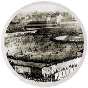 World Series, 1903 Round Beach Towel