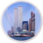 World Trade Center Round Beach Towel