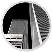 World Trade Center Pillars Round Beach Towel