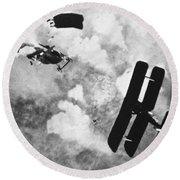 World War I: Aerial Combat Round Beach Towel