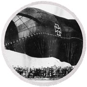 World War I: Airship Round Beach Towel