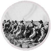 World War I: Camel Corps Round Beach Towel